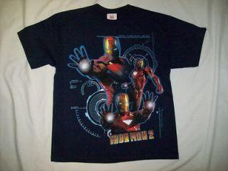 Marvel Comics Iron Man 2 Defensive Arc Reactors Navy T Shirt sz Youth