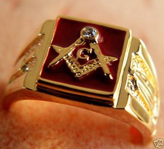 masonic ring 14k in Collectibles