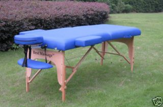 BestMassage Blue 77L 3 Pad Portable Massage Table Facial Bed Spa