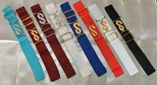 Masonic Apron Belt Extension   Adjustable (Choice of Colours)