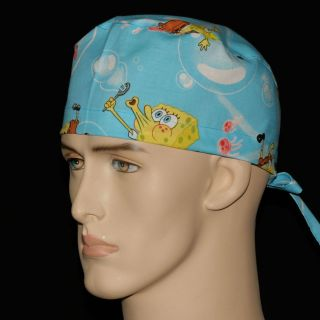 CHEF CHEMO DENTAL MEDICAL SURGICAL CAP OR ANY HEAD GEAR REGULAR TIES