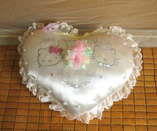 Hello kitty wedding love heat pillow cushion new