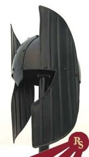 BLACK CORINTHIAN HELMET   Steel Armor   KNIGHT COSTUME