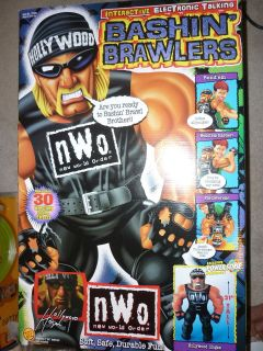 Toy Biz WCW NWO 21 Talking Plush Bashin Brawlers Hulk Hogan Action