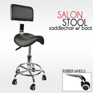Hydraulic Adjustable Salon Tattoo Stool Doctor Dentist Black PU