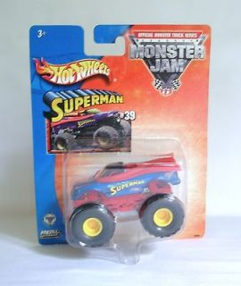 Monster Jam SUPERMAN #39 Mattel Mudder Tires Diecast Toy Truck Car