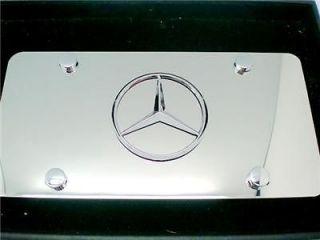 Mercedes Benz EMBLEM badg Polished Steel License Plate