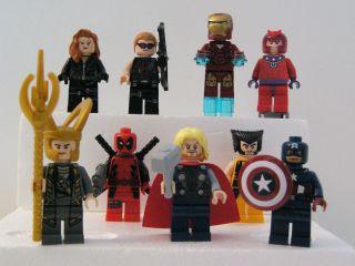 LEGO Marvel Avengers MinifiguresBlack Widow, Hawkeye, Iron Man, Hulk
