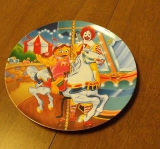 plastic 1993 decorative collectible Ronald McDonald plate carousel