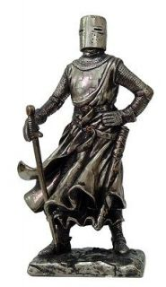MEDIEVAL KNIGHT 7H CRUSADER SCOUT WARRIOR STATUE FIGURINE SUIT OF