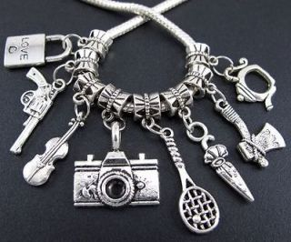 Wholesale Mix 100X Tibetan Silver Nice Charms Beads Fit European