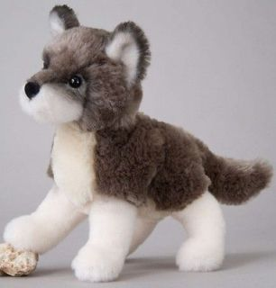 ASHES Douglas Cuddle Toy plush 7 long GRAY WOLF stuffed animal grey