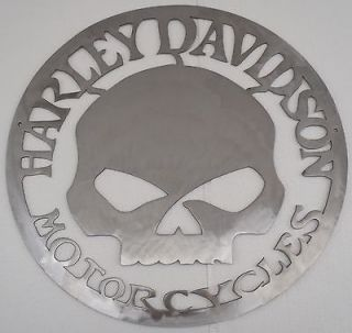 Biker Sign, Harley and Skull Metal Wall decor