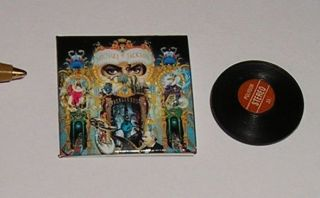 Dollhouse Miniature Record Album MICHAEL JACKSON DANGEROUS 112