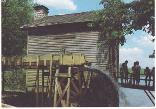 Grist Mill Stone Mountain Park Georgia Postcard