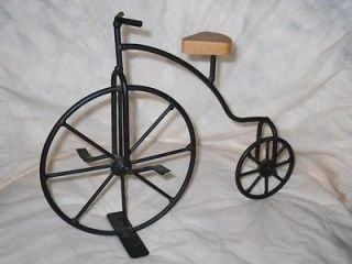 Metal Art Cast Iron Wood Penny farthing High Wheeler Hi Wheel Bicycle