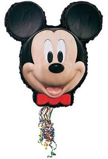 DISNEY MICKEY MOUSE 20 INCH HIGH BIRTHDAY PARTY PULL STRING PINATA