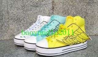 Women Angel Wings Lace High Platform High Top / Flats Casual Sneaker