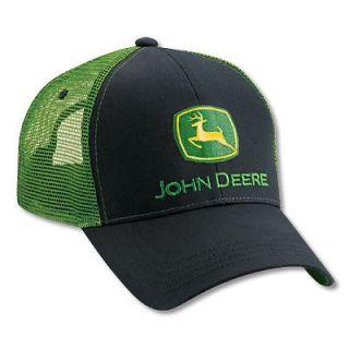 Product John Deere Authentic Black / Kelly Green Mesh Back Cap