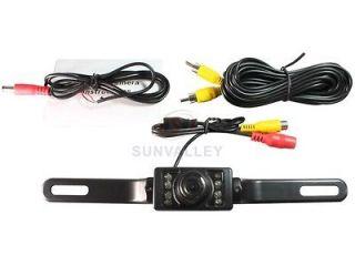 Waterproof License Plate Car Rear View 7 LEDS Backup Camera 135
