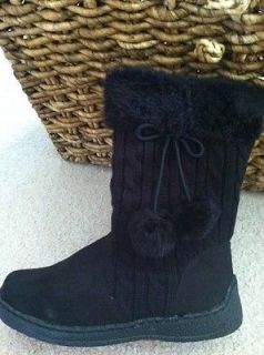 Michael Kors Girls Lil Abbi Black Sweater Boots   Size 3   New with