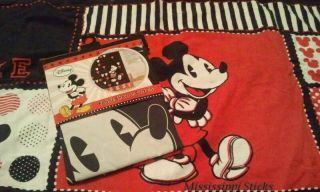 Mickey Mouse Disney Fabric Shower Bath Curtain & Hooded Towel Set