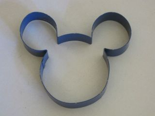Mickey Mouse Head Outline Icon Cookie Cutter Mold Metal Wall Decor