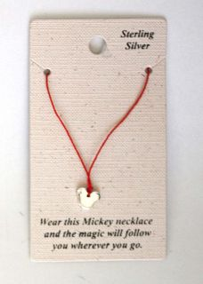 AUTHENTIC DISNEY MICKEY MOUSE HEAD STERLING SILVER NECKLACE