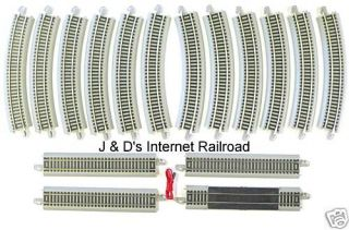 HO SCALE MODEL RAILROAD TRAINS LAYOUT BACHMANN SILVER EZ TRACK 56 x 38