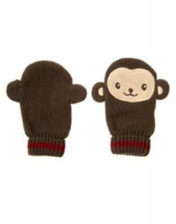 NWT Gymboree Newborn Baby Boy MISCHIEVOUS MONKEY Gloves Mittens 12 24
