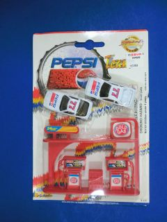 Pepsi Cola NASCAR Racing Team 2 Die Cast Metal Cars # 77 Play Set