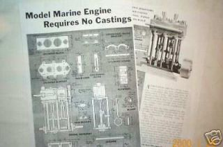 Newly listed MODEL MARINE steam engine model plans