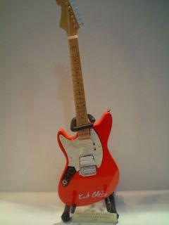 Miniature Guitar (24cm Tall)  NIRVANA KURT COBAIN FENDER JAG STANG