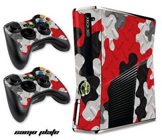 COVER FREE SHIP STICKER FOR NEW XBOX 360 SLIM CONTROLLER MOD CAMO