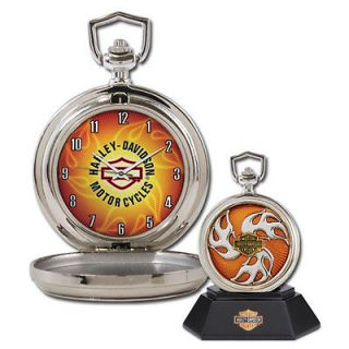 Franklin Mint Harley Davidso​n Custom Chrome Pocket Watch  Inferno