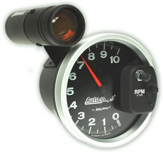 Auto Meter Tachometer Gauge 5 Monster Tach Rev Counter Black 10,000