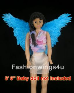 Blue butterfly macaw fairy angel bird costume feather wings Rio Jewel