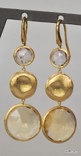 Magnificent New $1960 MARCO BICEGO 18K Gold Gemstone Drop Wire