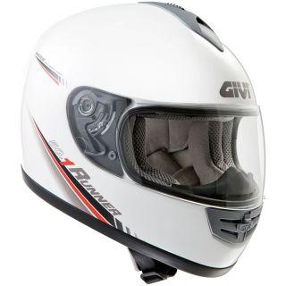 GIVI H50.1 RUNNER MOTORCYCLE MOTORBIKE HELMET WHITE M