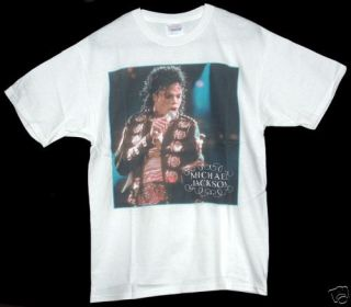 MICHAEL JACKSON KING OF POP SINGING WHITE TEE T SHIRT BNWT NEW