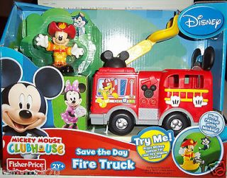 DISNEY MICKEY MOUSE CLUBHOUSE SAVE THE DAY FIRE TRUCK PLAY RESCUE WITH