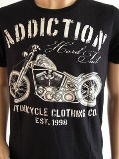 ADDICTION MOTORCYCLE VINTAGE SHIRT BIKER WEST COAST CHOPPERS HOT ROD