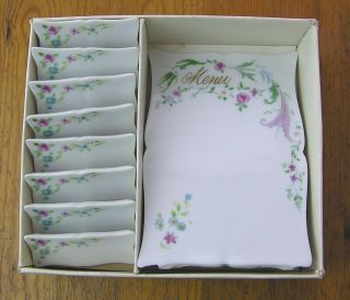 Vernon 16 Porcelain Reusable Place Cards Name Plates & Menu Board