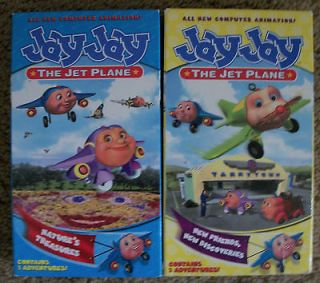 JAY JAY THE JET PLANE VHS VIDEO LOT OF 2 USED NATURES TREASURES NEW