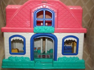 Fisher Price Little People Sweet Sounds Doll House Works Great Lots of