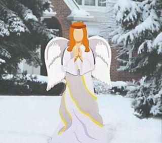 Large Angel Nativity Scene Metal Outdoor Christmas Yard Decoration