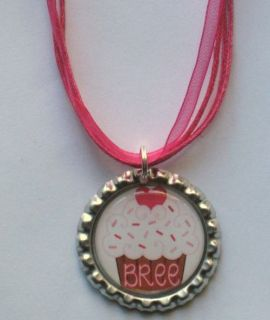 Boutique Bottlecap Necklace PERSONALIZED NAME Valentine Cupcake Heart