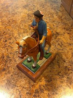 Elvis Presley Mccormick Whiskey Decanter Bottle Rising Sun Horse Mini