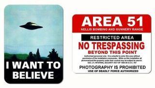 AREA 51   XFILES   (2) Magnet Set ufo aliens