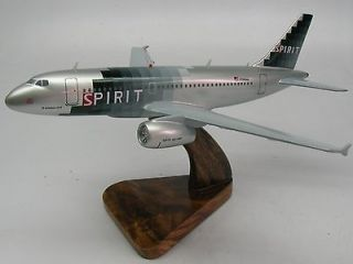 319 Spirit Airlines Airbus A319 Airplane Wood Model